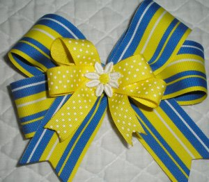Girl Scout Daisy boutique hairbow