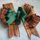 Fall Autumn Thanksgiving Plaid Boutique Hairbow