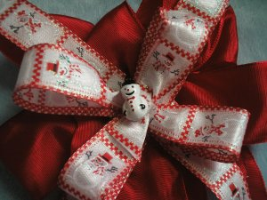 Snowman Christmas Boutique Hairbow