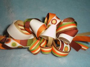 Autumn Fall loopy boutique hairbow
