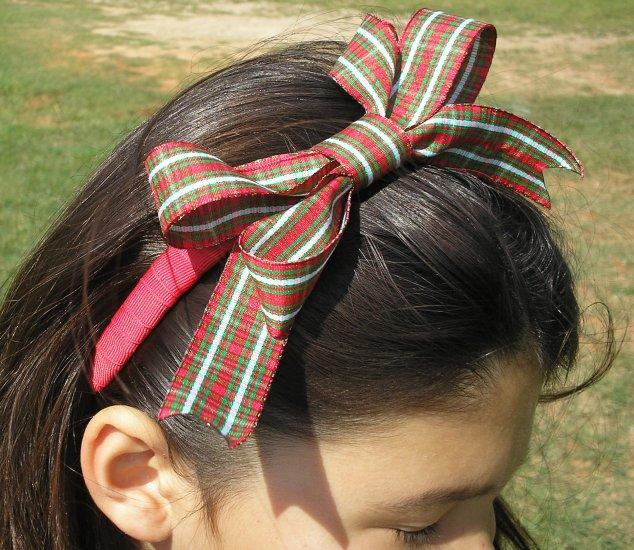 Holiday Plaid Boutique Headband