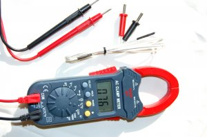 Clamp Meter AmpMeter Ammeter DMM w/Type K Thermocouple HVAC Tool