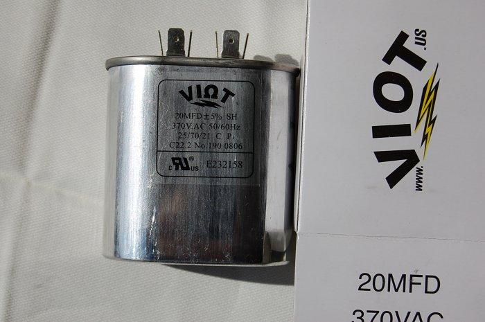 Cap 20 uFD Compressor Furnace Blower Fan Motor Start Run Capacitor Oval 370V UL Listed