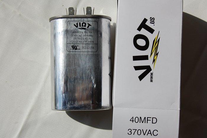 Cap 40 uFD Compressor Furnace Blower Fan Motor Start Run Capacitor Oval 370V UL Listed