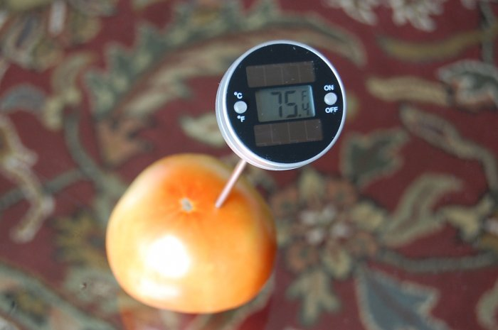 Solar Panel Powered Kitchen Cooking BBQ Digital Thermometer SS Shielded Thermister Sensor