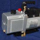 Rotary Vane Vaccum Pump 12CFM 3/4HP Continuous Duty Pulsator HVAC 3 Ports Sizes Industrial Size