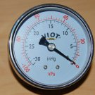 "Analog Vacuum Pressure Gauge Manometer 30""Hg2.5""SS Face 1/8""NPT Brass HVAC 69044"