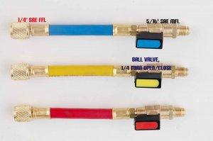 Adapter Set SAE Male 5/16X1/4 Female Flare HVAC Tool Ball Valve