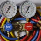 New Design:Manifold Gauge 5ft Hose Set:R410 R22 R134a R404a Stronger Prettier,One Set Does It All