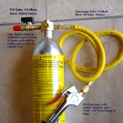 Improved:Air Brush Flush Retrofit Cleaning Tool Kit:Canister/hose/Gun  Control Valves HVAC
