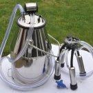 Cow Milker Bucket +lid liner 25 liter Stainless steel Delaval Surge Milk Machine