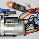HVAC Tool Set Kit:Vacuum Pump+Leak Detector+Clamp Meter