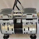 Twin piston oilfree oilless High Performance Vacuum Pump 5.5CFM 3/4 HP 1/2 milti-barb Hose Connector