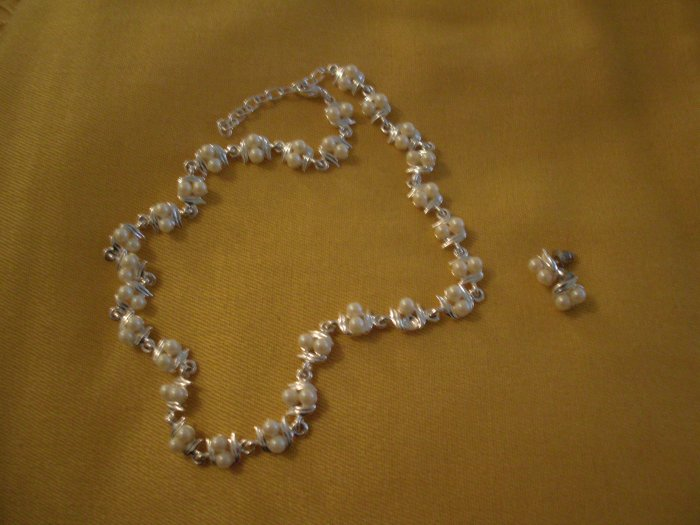 Silver Set With Pearls