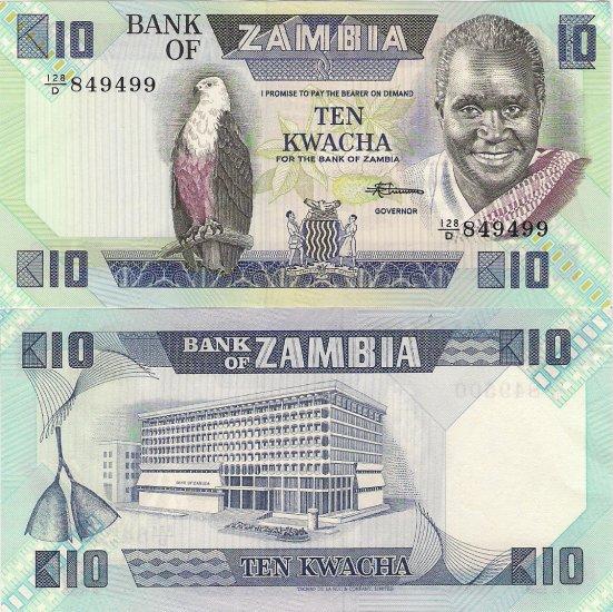 Zambia banknote ND (1986) 10 kwacha UNC