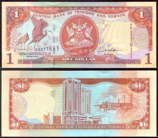 Trinidad and Tobago banknote 2002 1 dollar UNC