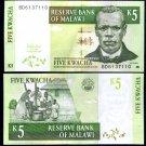 Malawi banknote 2005 5 kwacha UNC