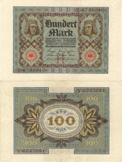Germany banknote 1920 100 mark gEF