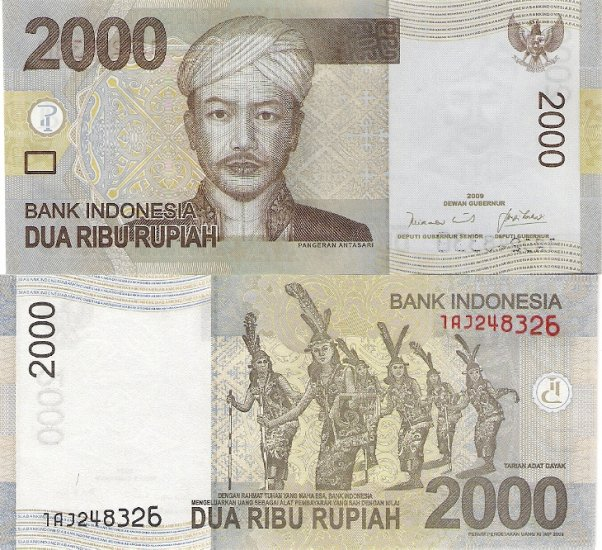 Indonesia banknote 2009 2000 rupiah UNC
