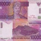 Indonesia banknote 2005 10000 rupiah gEF-aUNC