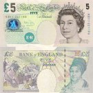 Great Britain banknotes 2002 5 pounds aUNC [CONSECUTIVE PAIR]