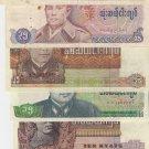 Burma OLD banknotes set 1-75 kyats VF-UNC