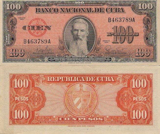 Cuba banknote 1959 100 pesos gEF-aUNC