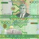 Turkmenistan banknote 2005 1000 manat foxing aUNC