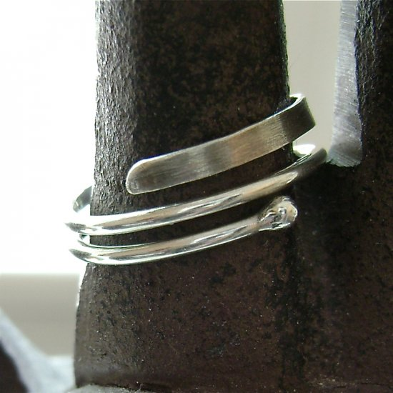 Transformation - Handforged Artisan Ring in Sterling Silver - size 6.5