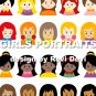 GIRLS PORTRAITS cut out PRINTABLE DESIGN16038. Send to your email in PDF