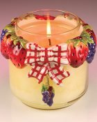 Stawberry Jar Candle Bow