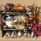 SPRINGTIME MOMENTOS SHELF NEEDLEPOINT KIT NEST TEA CUPS