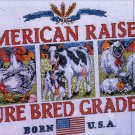 COUNTRY SAMPLER CROSS STITCH KIT COW SHEEP CHICKENS
