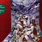 RARE ROSSI SNOWY WINTER VILLAGE NEEDLEPOINT CHRISTMAS STOCKING KIT