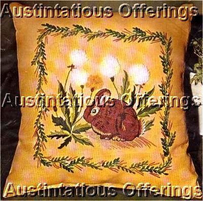 RARE FIND SPRINGTIME BUNNY EMBROIDERY PILLOW KIT