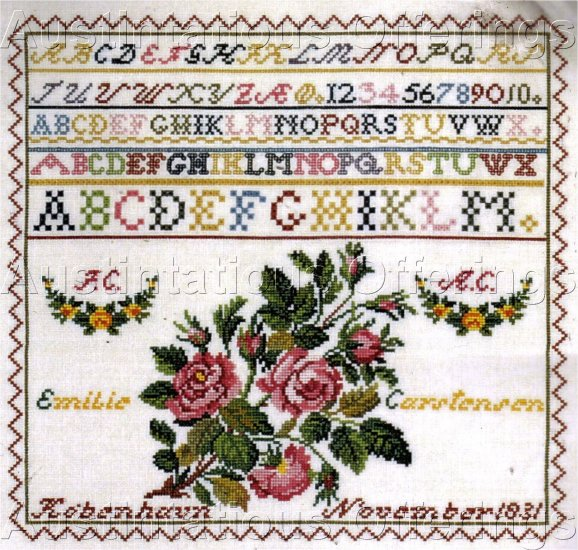 ROSENSTAND REPRODUCTION SAMPLER CROSS STITCH KIT WAEVER