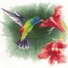 JOHN CLAYTON WATERCOLOR CROSS STITCH KIT HUMMINGBIRD IN FLIGHT