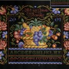 RARE GIVE THANKS BLACK BACKGROUND THANKSGIVING CROSS STITCH SAMPLER KIT