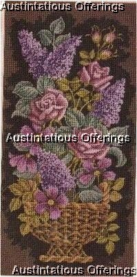 CLASSIC FLORAL ELSA WILLIAMS NEEDLEPOINT KIT ROSES LILACS