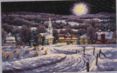 CHRISTMAS WINTER SLEIGHRIDE BY MOONLITE NEEDLEPOINT KIT