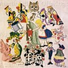 RARE ALICE WONDERLAND FULL CAST OF CHARACTERS CREWEL EMBROIDERY KIT