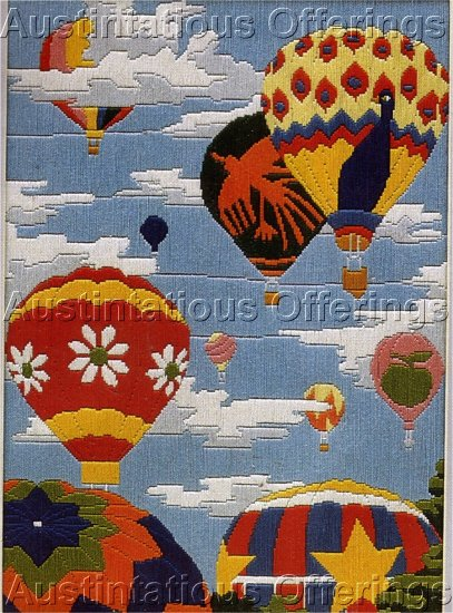 HARD TO FIND LONGSTITCH NEEDLEPOINT KIT HOT AIR BALLOON REGATTA