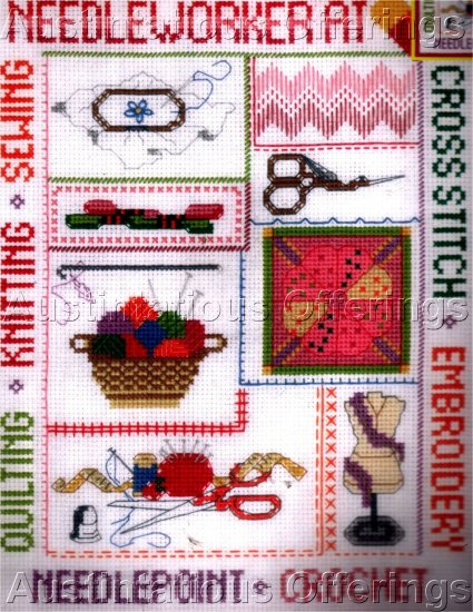 NEEDLEWORKER CROCHET EMBROIDERY KNIT SEW CROSS STITCH KIT