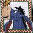 EEYORE CROSS STITCHKIT  MINIATURE PILLOW ORNAMENT