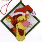 SANTA HAT TIGGER CROSS STITCH KIT CHRISTMAS ORNAMENT