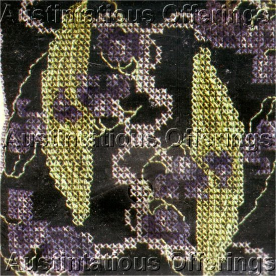 PIN CUSHION CROSS STITCH KIT PEAPOD ON BLACK BACKGROUND