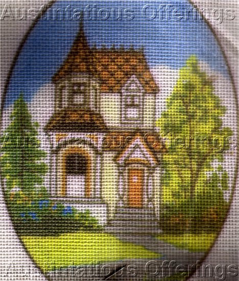 PAINTED LADY  VICTORIAN HOUSE QUICK FINISH MINIATURE NEEDLEPOINT KIT