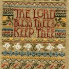 PRAYING HANDS BENEDICTION CROSS STITCH LINEN SAMPLER KIT LORD BLESS THEE
