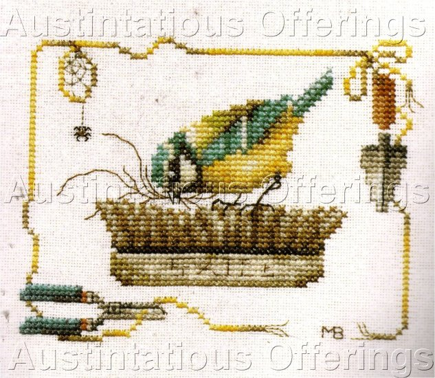 MAJOLEIN BASTIN CROSS STITCH KIT BIRD NEST GARDENING