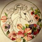 RARE JULIE SHEARER UNICORN FLORAL CREWEL EMBROIDERY KIT
